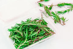 Organic pack of fresh rosemary Stock Image