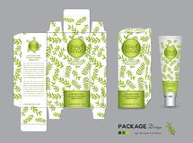 Organic packaging Template Vector Illustration. Package tags. Stock Photos