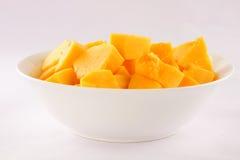 Organic papaya fruit slices. stock photo