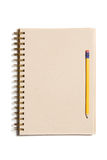Organic paper notebook Stock Photography