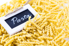 Organic pasta stock photography