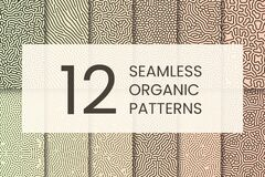 Free Organic Pattern Set. Abstract Shapes Like Corals. Royalty Free Stock Photos - 187625028