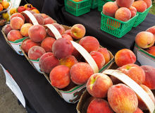 Organic Peaches Royalty Free Stock Photos