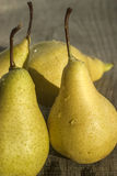 Organic pears closeup Stock Photography