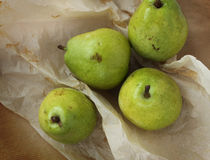 Organic pears in a paper Royalty Free Stock Photos