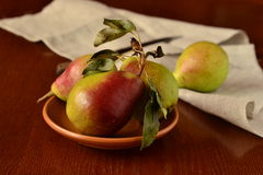 Organic pears Royalty Free Stock Photography