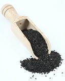 Organic peeled black sesame seeds. Stock Photography
