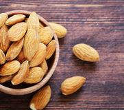 Organic peeled nuts almonds Stock Photos