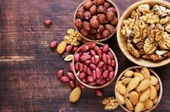 Organic peeled nuts mix Royalty Free Stock Image