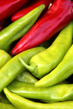 Organic peppers in a pile. Bio market concept, food background Stock Image