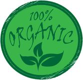 Organic,100 percent Green Organic Stamp. Organic,100 percent Healthy Green Organic Stamp illustration vector. quality ceriticate Royalty Free Stock Photo