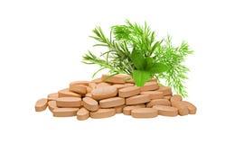 Organic Pills Royalty Free Stock Images