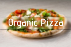 Organic Pizza Stock Image