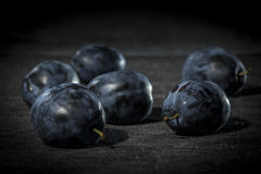 Organic plums Stock Image