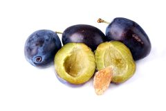 Organic Plums Stock Photos