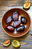 Organic plums Royalty Free Stock Image