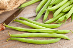 Organic pole beans Royalty Free Stock Images