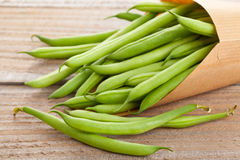 Organic pole beans Royalty Free Stock Photos