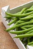 Organic pole beans Stock Photo
