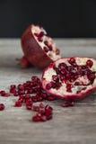 Organic pomegranate Stock Image