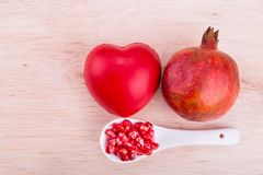 Organic Pomegranate juice with high anti-oxidant good for health Stock Image