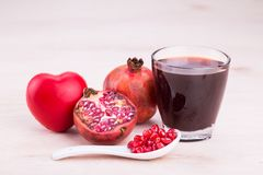 Organic Pomegranate juice with high anti-oxidant good for health Royalty Free Stock Photo