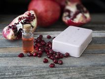 Organic Pomegranate Soap stock photo