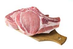 Organic Pork. Chop isolated on white Royalty Free Stock Photos