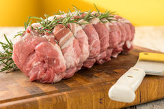 Organic pork chops Royalty Free Stock Images