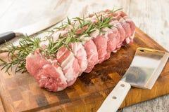 Organic pork chops Stock Images
