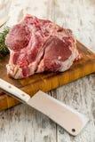 Organic pork chops Stock Image