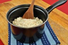 organic porridge in a pot Stock Photos