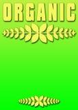 Organic poster banner stock photo