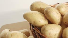 Organic potatoes, raw food stock video footage
