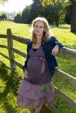 Organic Pregnant Woman Stock Images