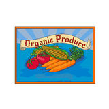 Organic Produce Crop Harvest Label Watercolor Royalty Free Stock Image