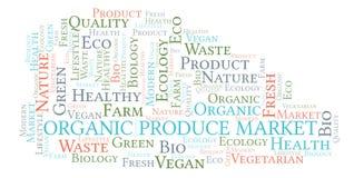 Organic Produce Market word cloud. Organic Produce Market word cloud, wordcloud made with text only royalty free illustration