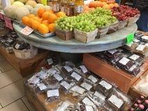 Organic produce for sale in a  farmer market TX Royalty Free Stock Photos