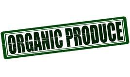 Organic produce. Stamp with text organic produce inside, illustration royalty free illustration