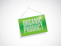 Organic product banner sign illustration Royalty Free Stock Photos