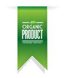 Organic product banner sign illustration design Royalty Free Stock Images