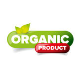 Organic Product button vector. Green royalty free illustration