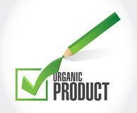 Organic product check mark illustration design Stock Images