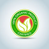 `100% Organic Product` Eco logo template, bio label with retro vintage design. Vector format. Royalty Free Stock Images