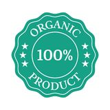 Organic product flat badge on white background. Vector illustration Stock Images