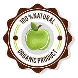 Organic product guaranteed seal. Illustration design Stock Image