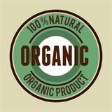 Organic product guaranteed seal Royalty Free Stock Photo