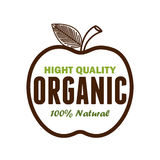 Organic product guaranteed seal. Illustration design Stock Photography