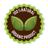 Organic product guaranteed seal Royalty Free Stock Photography