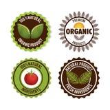 Organic product guaranteed seal Stock Photos